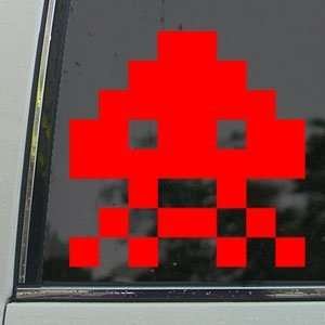 Space Invader Red Decal Wii Car Truck Window Red Sticker