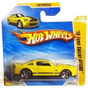 2010 Hot Wheels [Yellow] 10 FORD SHELBY GT500 #9/214, HW Premiere #9