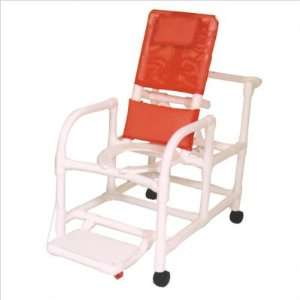MJM International E195 3TW Echo Reclining Shower Chair with Footrest