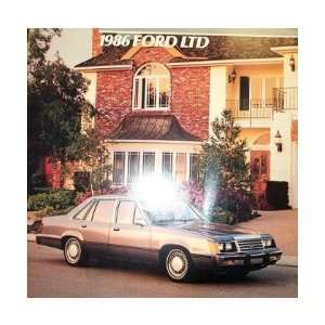 1986 FORD LTD Sales Brochure Literature Book Piece
