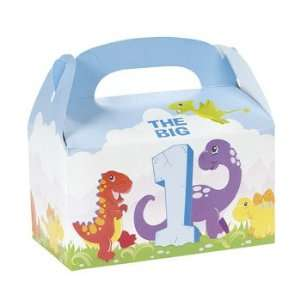 Dinosaur 1st Birthday Unfilled Treat Boxes   Party Favor & Goody Bags