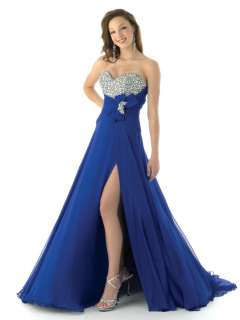 Stones Jewels Beaded With Bow Evening Pageant Gown 325
