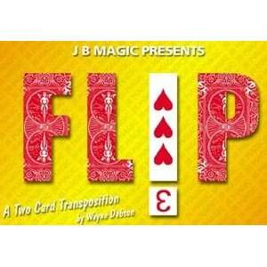 Flip Bicycle Cards Magic Close Up Trick Illusions Poker