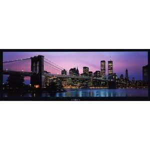 and New York City Skyline by Richard Sisk 37x13
