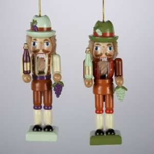 Club Pack of 12 Tuscan Winery Wooden Nutcracker Christmas Ornaments 4