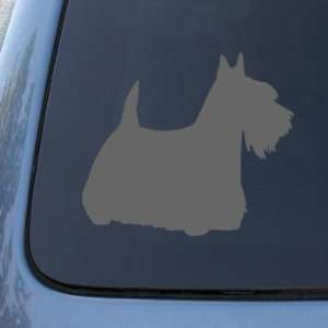 SCOTTISH TERRIER SILHOUETTE   Dog Decal Sticker #1555  Vinyl Color