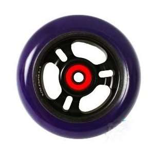 Phoenix 3 Spoke Wheel Black Purple 100mm