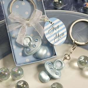 Baby Blue Pacifier Keychain Favor 6483 Baby