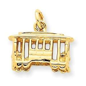 14k Cable Car Charm   Measures 15.5x16mm   JewelryWeb