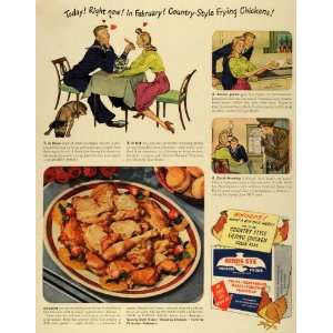 1943 Ad Birds Eye Frosted Foods Valentines Day WWII Navy Sailor Lovers