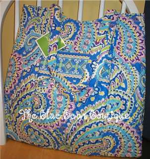 Vera Bradley Retired Capri Blue Large Curvy Tote