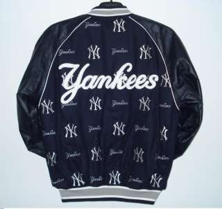 MLB NEW YORK YANKEES Wool LEATHER REVERSIBLE JACKET XL