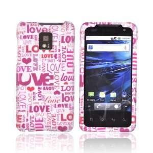 Pink Love & Hearts Rubberized Hard Plastic Case Cover For