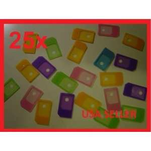 25x Micro SIM Card Adapter to Regular for iPHONE 4G 4S