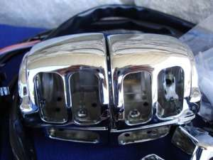HANDLEBAR WIRING HARNESS WITH CHROME SWITCH HOUSINGS & SWITCHES FOR