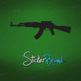 Vinyl Wall Decal Sticker AK47 Military Gun