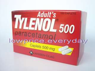 bottle 100 caplets TYLENOL Extra Strength Paracetamol (Acetaminophen