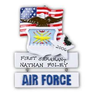 Personalized Air Force Christmas Ornament
