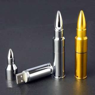 Metal Bullet Shape USB Memory Stick Flash Drive 4 32GB XL01