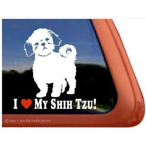 I Love My Shih Tzu Dog Auto Vinyl Window Decal Sticker