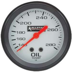140 to 280 Degree F Mechanical Oil Temperature Gauge with Allstar Logo