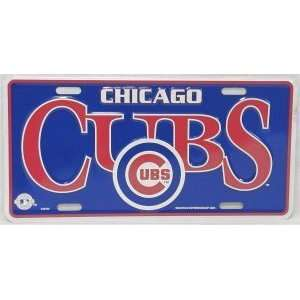 MLB CHICAGO CUBS TEAM METAL License Plate Tag