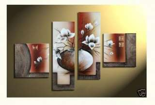 Abstract Canvas Art Oil Paintingflower pots and flower