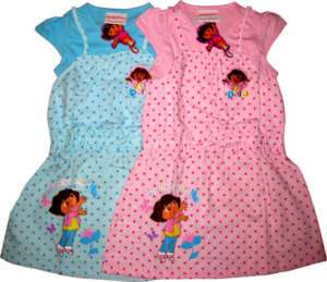 DORA THE EXPLORER Kids Girls Clothes Dress Sz 8 Age 5 6