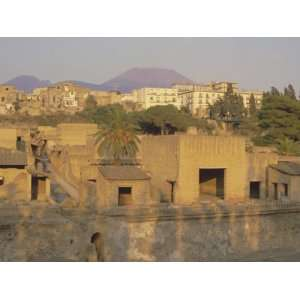 Mount Vesuvius Behind the Ruins of the Roman Resort of Herculaneum