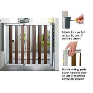 Munchkin 31075 Loft Dark Wood Safety Gate Baby