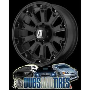 22 Inch 22x10 KMC XD SERIES wheels MISFIT Matte Black