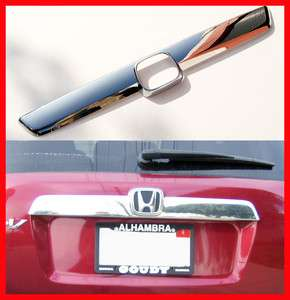 CRV Chrome Grille Tailgate Trunk Hatch Cover Bezel Trim Accent