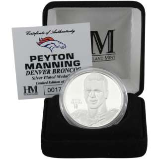 Peyton Manning Denver Broncos Player Silver Coin