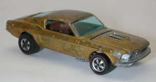 Redline Hotwheels Gold 1968 Custom Mustang OHS Open Hood Scoop