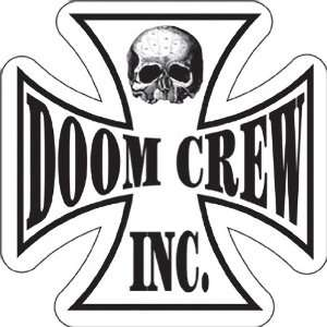 BLACK LABEL SOCIETY DOOM CREW CROSS STICKER