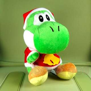 New Super Mario Bros Xmas Yoshi+Mario Plush Doll Toy