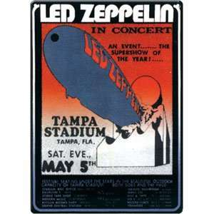 Led Zeppelin   Collectible Tin Concert Signs