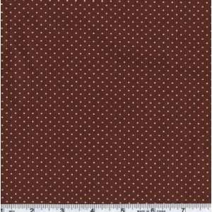 45 Wide Close To My Heart Tiny Dots Brown Fabric By The