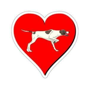 Pointer Dog Love   Window Bumper Sticker