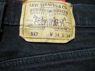 D2460 levis vintage 517 black boot cut jean 34x34
