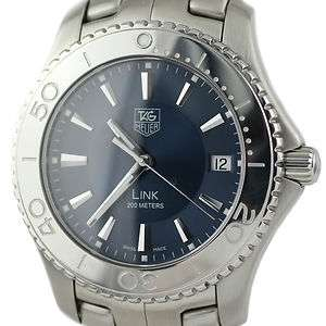 TAG Heuer Link WJ1112 Stainless Steel Blue Swiss Quartz Mens Watch