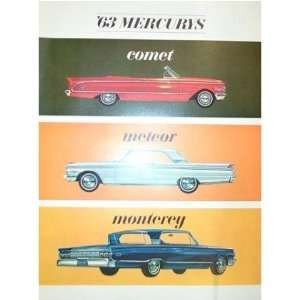 1963 MERCURY Sales Brochure Literature Book Piece