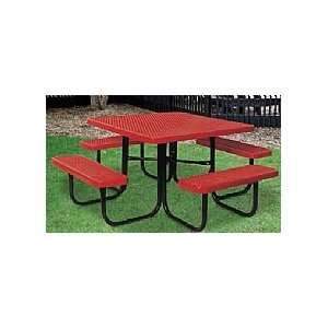 SuperSaver; Square Commercial Picnic Tables Patio, Lawn