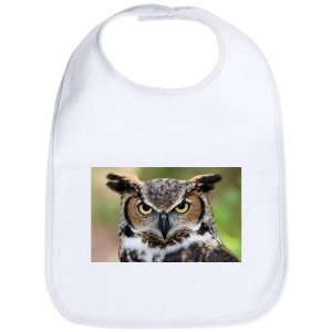 Baby Bib Cloud White Great Horned Owl