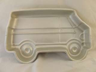 WILTON CAKE PAN MOLD VINTAGE PARTY VAN EMT SCHOOL CARGO