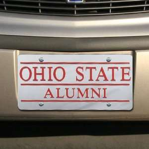 Ohio State Buckeyes Silver Mirrored Alumni License Plate