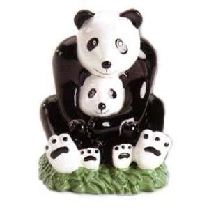 KIDS PANDA BEAR piggy bank FIGURINE DECOR art NEW Toys