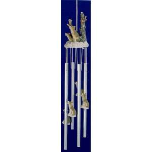 Wolves 3d Wolf Pack Colorful Poly Resin 4 Tube Hanging