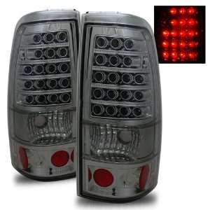 99 02 Chevy Silverado Smoke LED Tail Lights + LED Parking