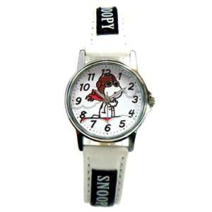 Snoopy Flying Ace Watch   Peanuts White Wrist Watch